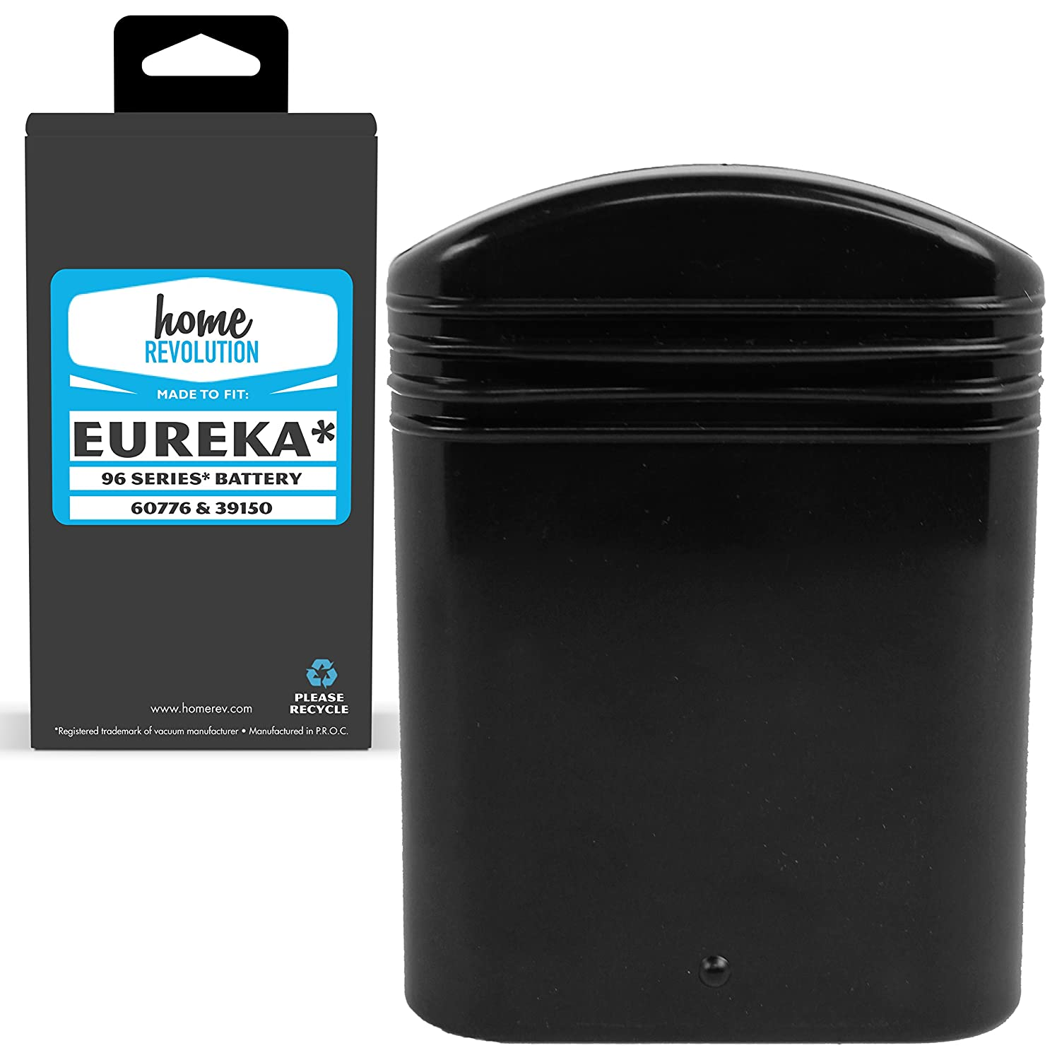 Home Revolution Replacement Battery, Fits Eureka 96, 96A, 96A-1, 96B, 96D, 96H, 96JZ, 97A and Parts 25-0010-02, 39150, 60776, & 68112
