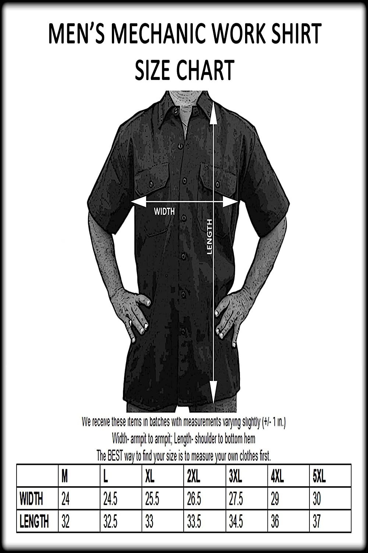 XXL SHORE TRENDZ Mens Mechanic Work Shirt Old School Muscle American Rattitude Grey