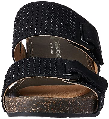 1199436d2a44 Naturalizer Women s Carena Black Leather Slippers - 6 UK India (39  EU)(6746903)  Buy Online at Low Prices in India - Amazon.in