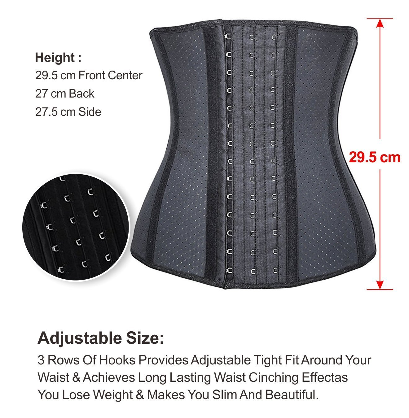 3f48bed19cb YIANNA Women s Breathable Latex Waist Training Corset Fat Burning Workout Waist  Trainer Hourglass Body Shaper