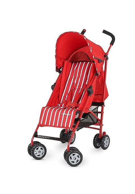 Mothercare Nanu - Cochecito, diseño de rayas, color rojo