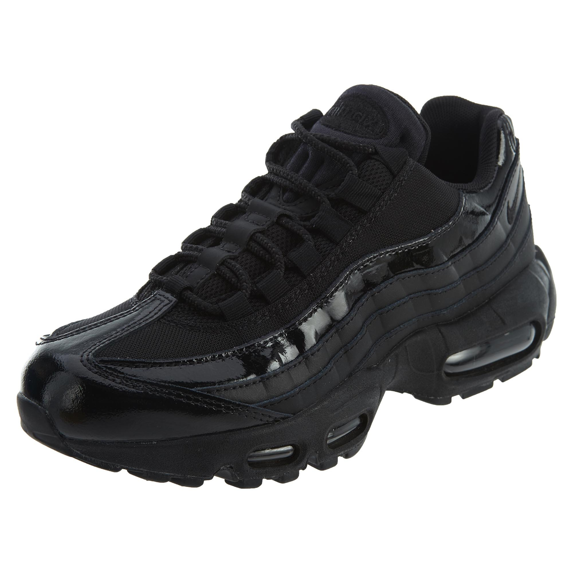 pretty nice 1891e 6f9d0 Galleon - NIKE Womens Air Max 95 Black Leather Trainers 12 US