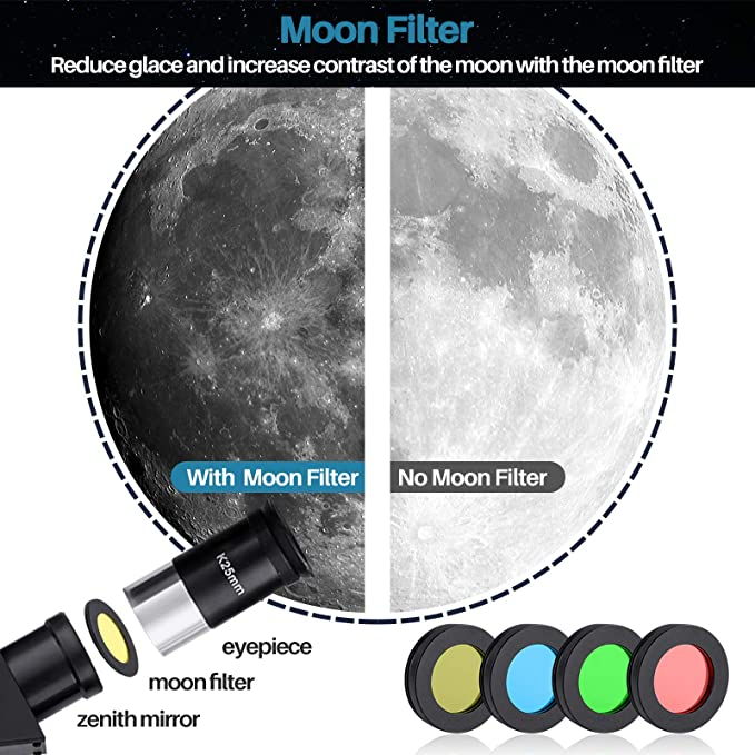 MAXLAPTER Kids Telescope for Astronomy with Standard Tripod Phone Mounting Case Moon Filter 400//70mm