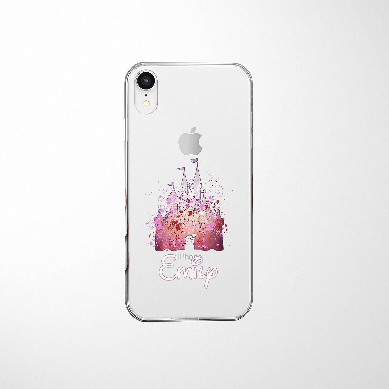 Amazon Com Smartgiftshop Cartoon Movie Personalised Clear Tpu Phone Cover Case For Iphone Samsung Disney Iphone 6 Plus 6s Plus Disney Castle Pink