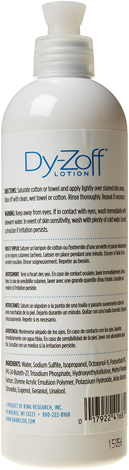 Amazon.com : King Research Dy-zoff Lotion, 12 Ounce : Hair Color Removers : Beauty