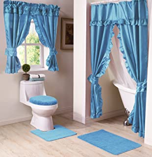Madison MAD SWG WC BL Bathroom Window Curtain, Blue