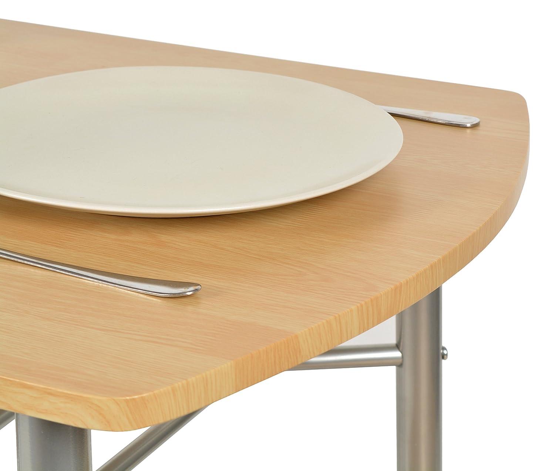 ts-ideen 3er Set Essgruppe Tisch Stuhl platzsparend Esstisch 3 ...