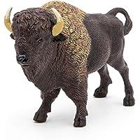 Papo- Figura Bisonte de America 14,5X48X9,2CM, Multicolor (2050119)