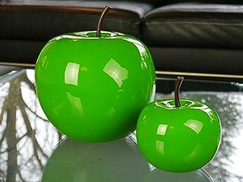 Objets De Décoration En Fibre De Verre En Forme De Pomme Brillant, Décoration  De Fruits