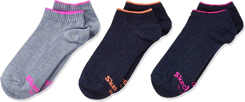 Skechers Socks Calze, Bambina Pacco da 3