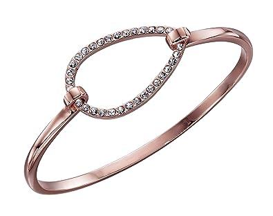 1f5306942ab Fiorelli Fashion Women Gold Crystal Bangle of Length 6.3cm Xb1411C:  Amazon.co.uk: Jewellery