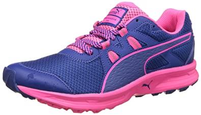 Puma Women s Descendant Tr Wn True Blue and Knockout Pink Running Shoes - 3  UK  ead5d7fd7