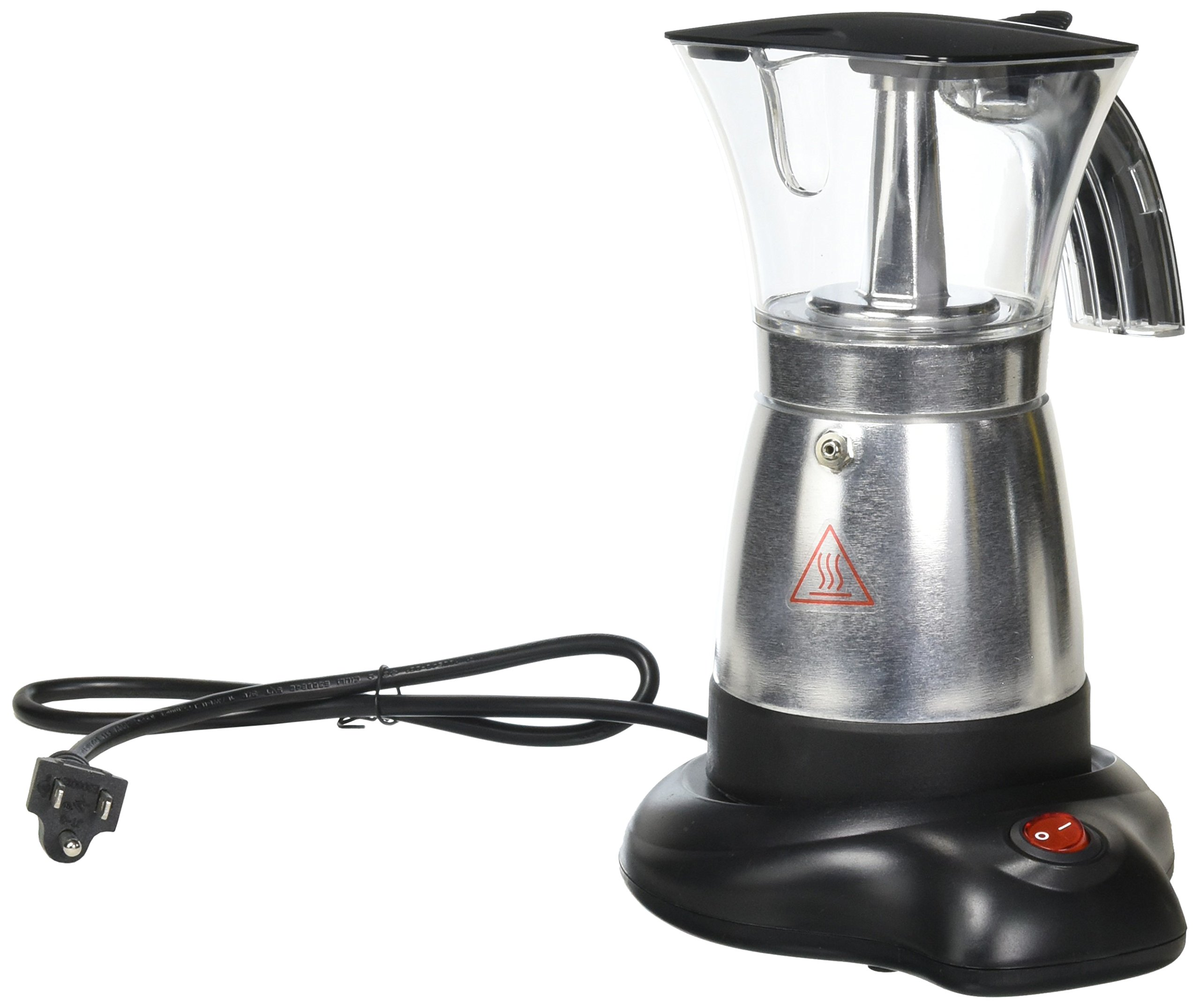 Brentwood TS-118BK Electric Moka Pot Espresso Machine, 6-Cups by Brentwood
