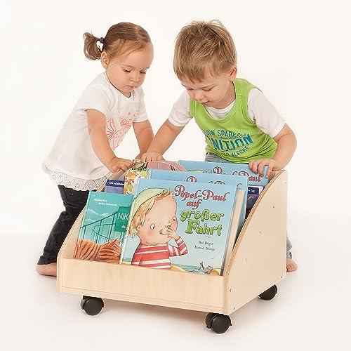 FLIXI Bücherkiste aus Birkenholz | Kinder Bücherregale aus Holz