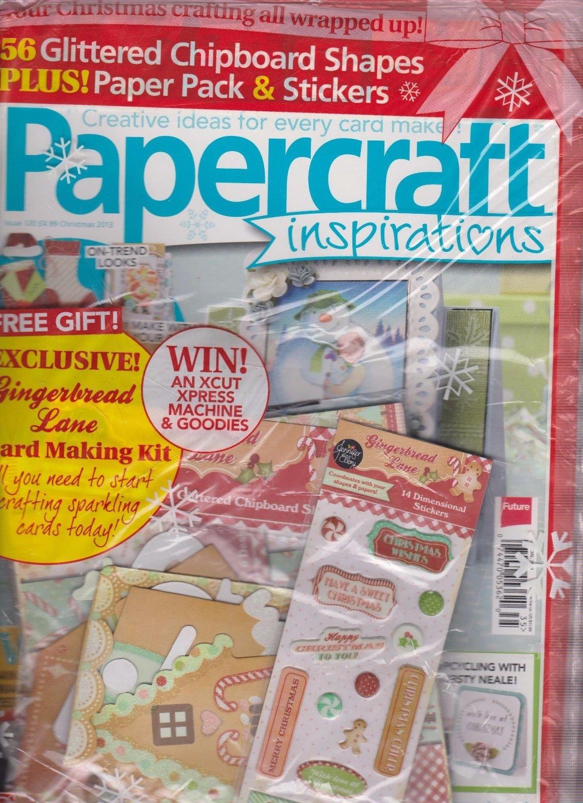 PAPERCRAFT INSPIRATIONS Magazine #120 CHRISTMAS 2013, SEALED W 3 FREE GIFTS.