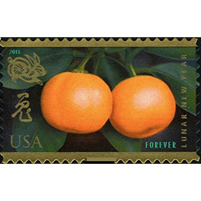 Year of the Rabbit: Kumquats (Celebrating Lunar New Year), Full Sheet of 12 x Forever Postage Stamps, USA 2011, Scott 4492: Toys & Games
