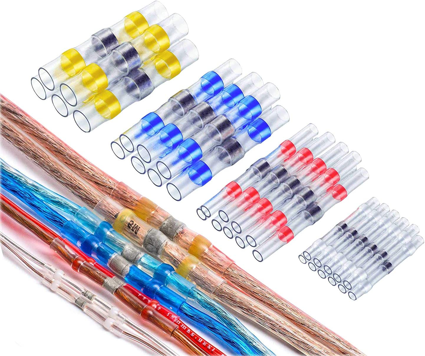 250X Waterproof Solder Sleeve Splice Wire Mix Heat Butt New Shrink H8L7
