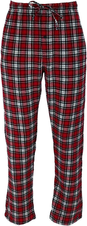 Hanes Mens Big /& Tall Cotton Long Sleeve Shirt and Flannel Pajama Pants