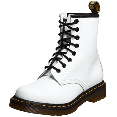 choose authentic enjoy complimentary shipping latest collection Dr. Marten's Women's 1460 8-Eye Patent Leather Boots, White Smooth Leather,  6 F(M) UK / 8 B(M) US Women / 7 D(M) US Men