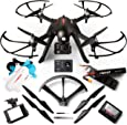 Force1 Brushless Motor GoPro Drone Kit – F100GP Camera Drones for Adult w/Compatible GoPro Drone Mount, 1080p Drone Camera and Long Flight Time