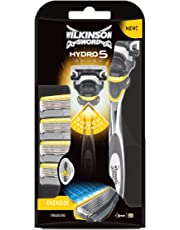 Wilkinson Sword PACK Hydro 5 Sense - Kit de Afeitado Manual para Hombre con Máquina de Afeitar de 5 Hojas y Cabezal Pivotante con Shock Absorbing + 4 Recambios de Cuchillas
