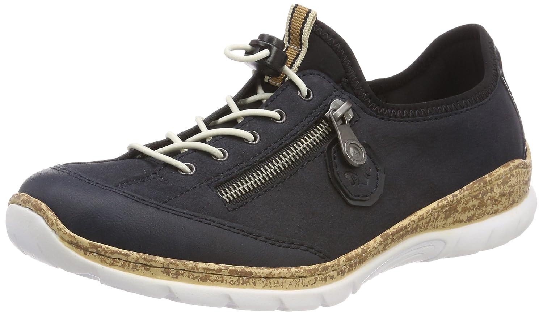 Rieker N4263, Zapatillas para Mujer 36 EU|Azul (Pazifik/Pazifik/Marine/Schwarz)