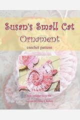 Susan's Sleeping Kitty Crochet Ornament - Crocheted Cat Pattern: Susan's Animal Appliqués