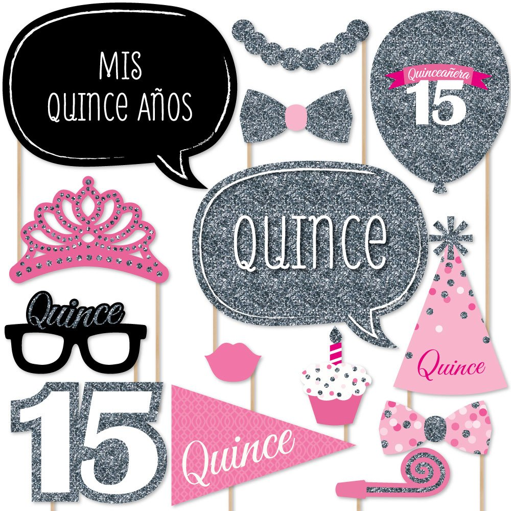 Quinceanera Pink Sweet 15 Birthday Party Photo Booth