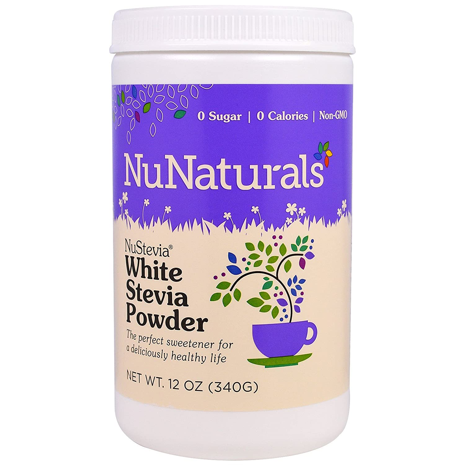 NuStevia White Stevia Powder, 12 oz 340 g Pack of 2