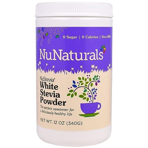 NuStevia White Stevia Powder, 12 oz 340 g Pack of 2