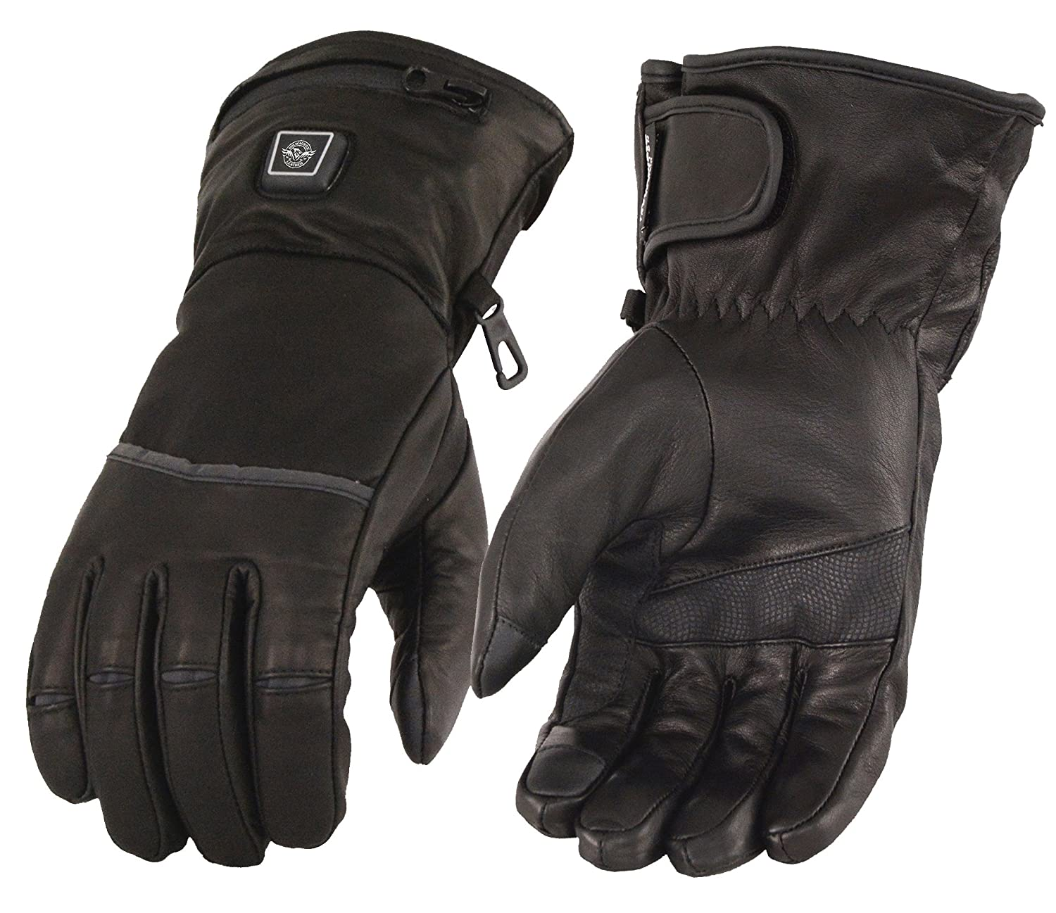Amazon.com: Milwaukee Leather Men\'s Heated Gantlet Gloves with Touch ...
