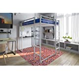 Amazon Com Duro Z Bunk Bed Loft With Desk White