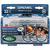 Dremel EZ688-01 EZ Lock Rotary Tool Cutting Discs Accessory Kit- Cut-Off Wheels – Plastic, Metal, and Thin Cuts, 11 piece,As