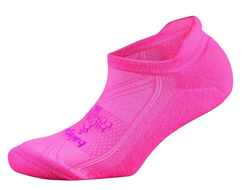 Balega Hidden Comfort No-Show Running Socks for Men and Women (1 Pair), Shocking Pink, Large
