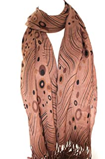Self Embossed Glitter Chiffon Style Large Scarf Scarves Stole Shawl Hijab