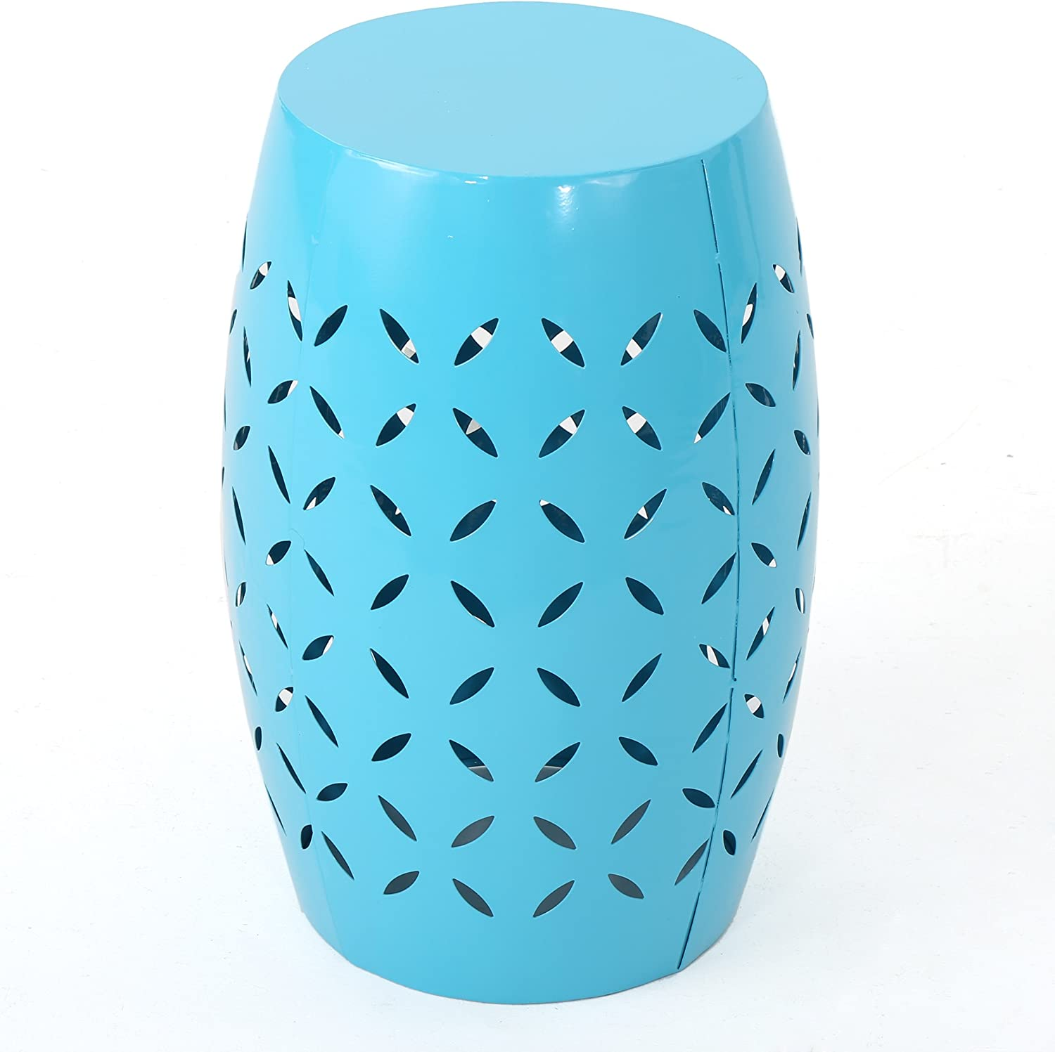 Lilly Outdoor 12 Blue Iron Side Table