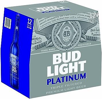 Bud Light Platinum, 12 Pk, 12 Oz Bottles, 6.0% ABV
