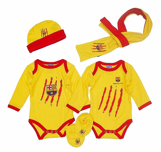 F.C.BARCELONA - Pack Recién Nacido Barça, Color Amarillo, Talla ...