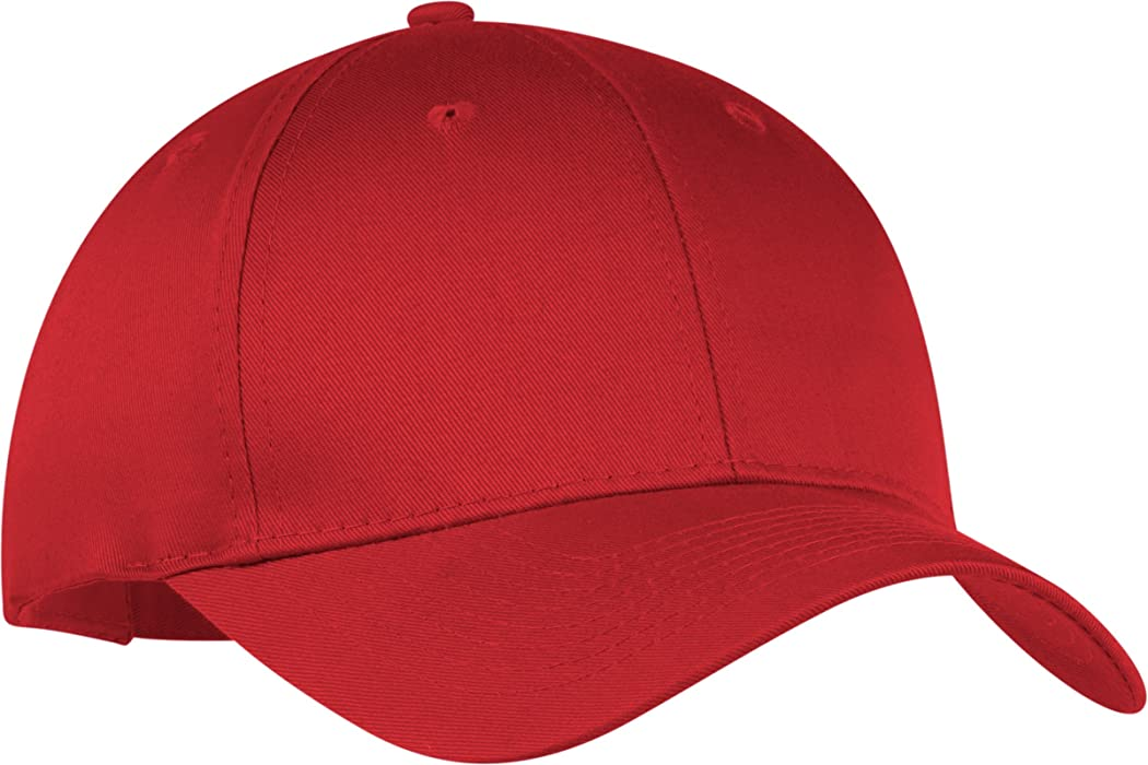 de31a688bd5 Port   Company Men s Six Panel Twill Cap OSFA Red at Amazon Men s Clothing  store