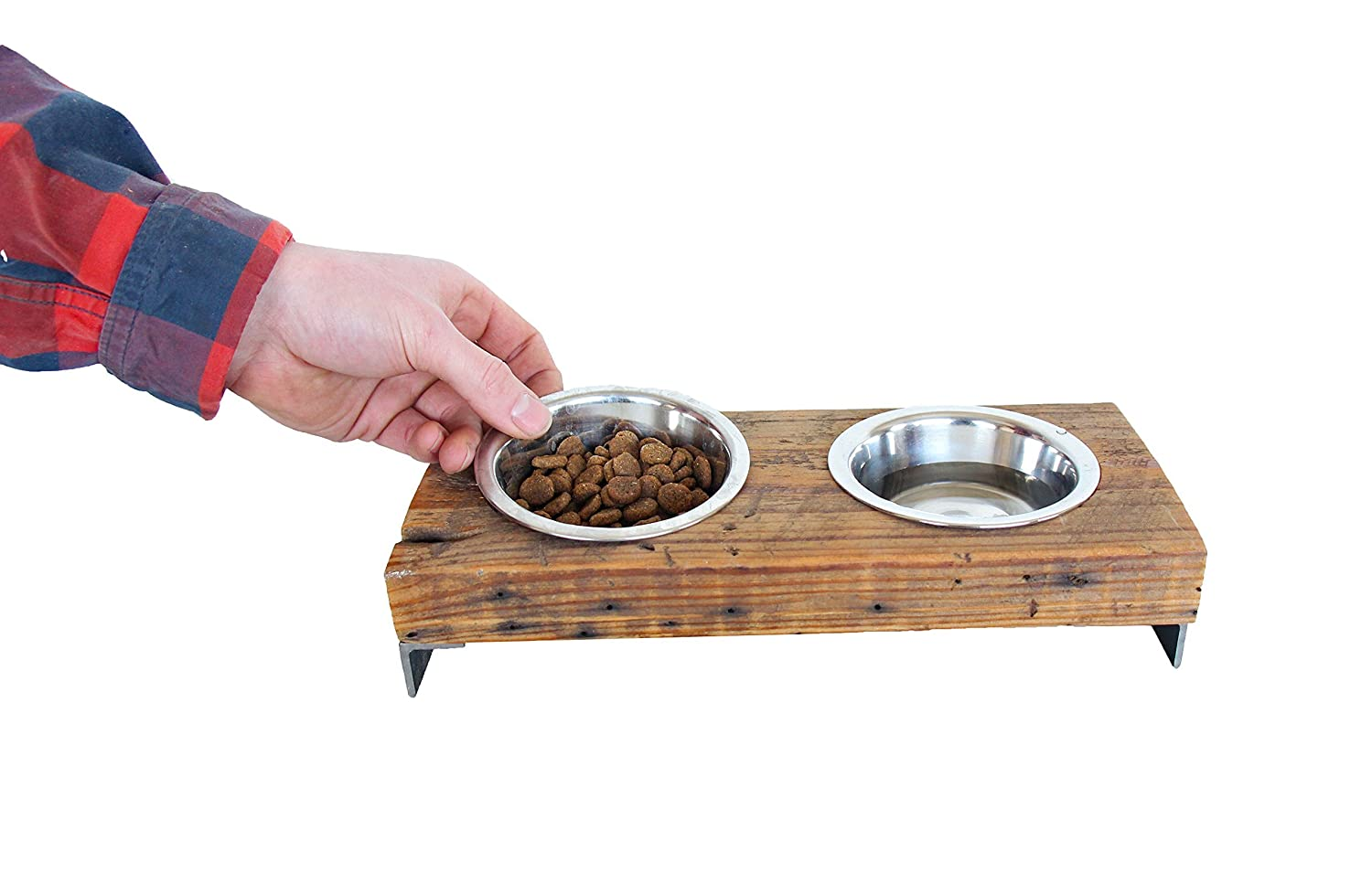 Elevated Pet Bowl for small dogs and cats, Raised Pet Feeder, dog bowl stand, cat bowl stand, rustic pet feeder
