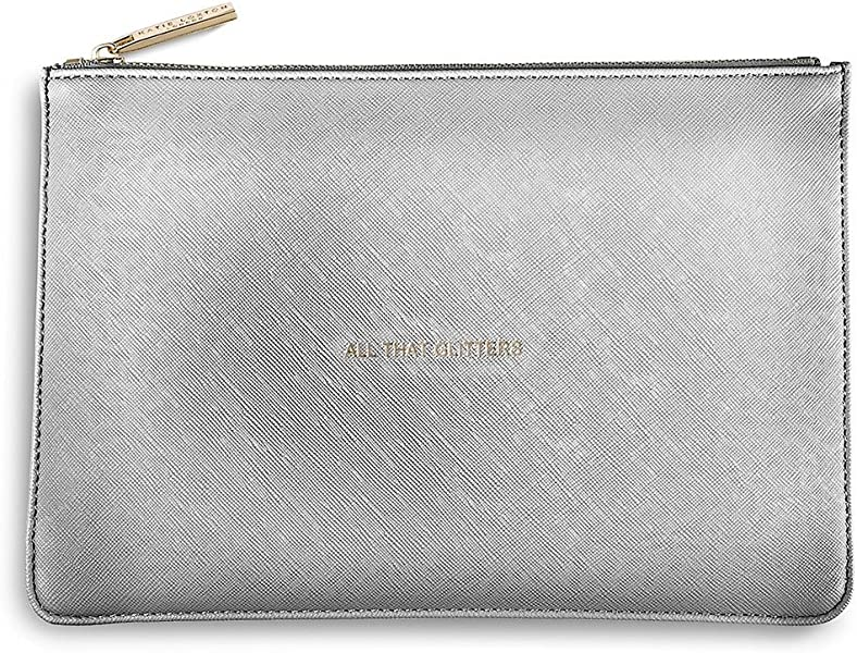 Katie Loxton The Perfect Pouch Metallic Silver Handbags Amazoncom