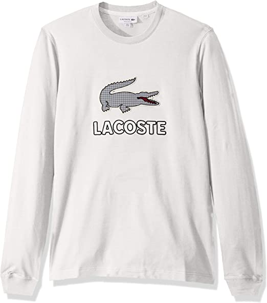XL BRAND NEW LACOSTE CROC LONG-SLEEVED T-SHIRT GREEN SIZES SMALL