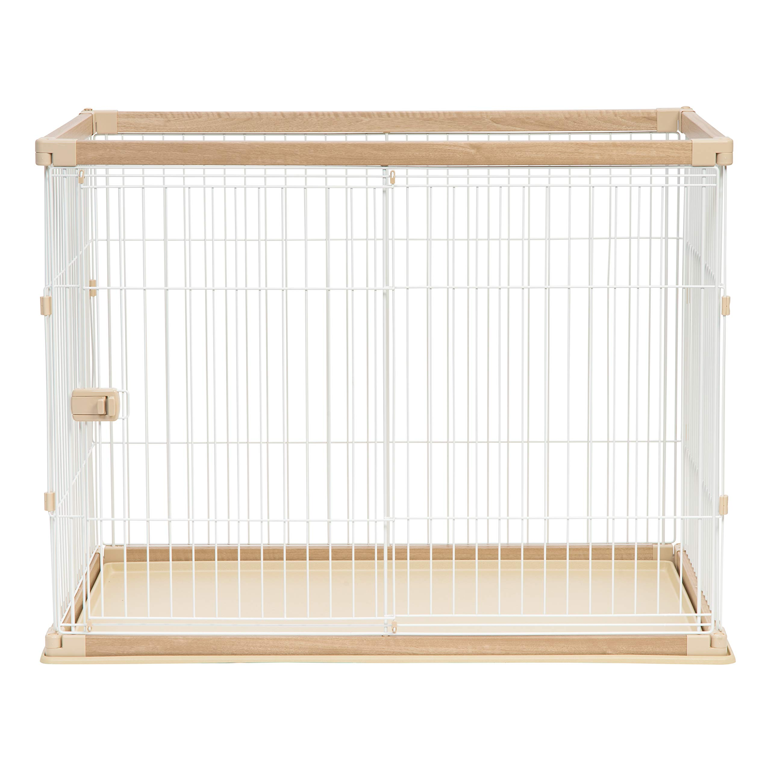 IRIS Extra Tall Wire Open Pet Pen, Brown/White