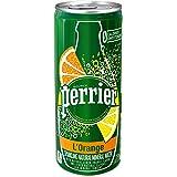 Perrier Sparkling Natural Mineral Water, Lemon Orange, 8.45 Ounce (Pack of 30)