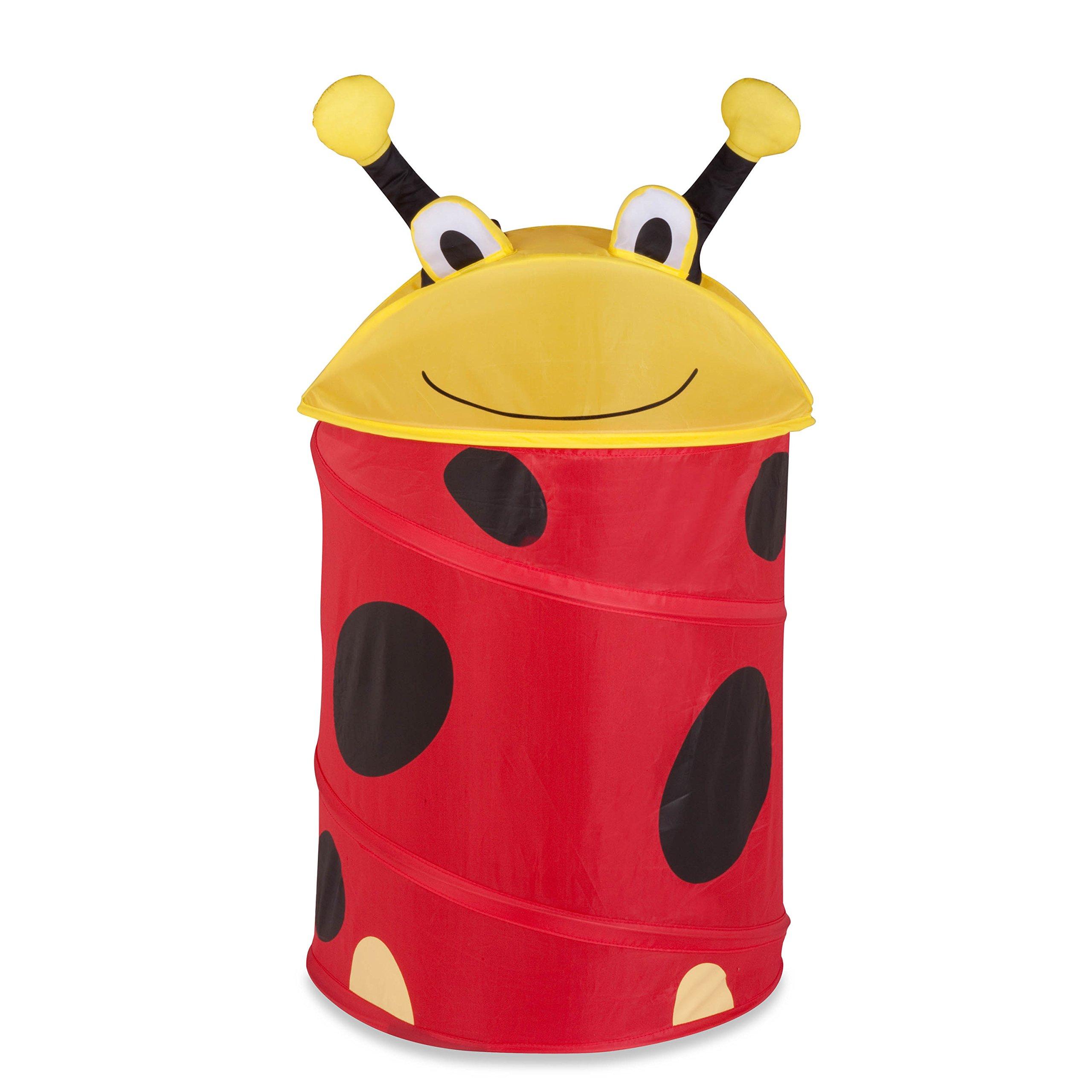 Honey-Can-Do HMP-02057 Medium Kid's Pop-Up Hamper - Lady Bug