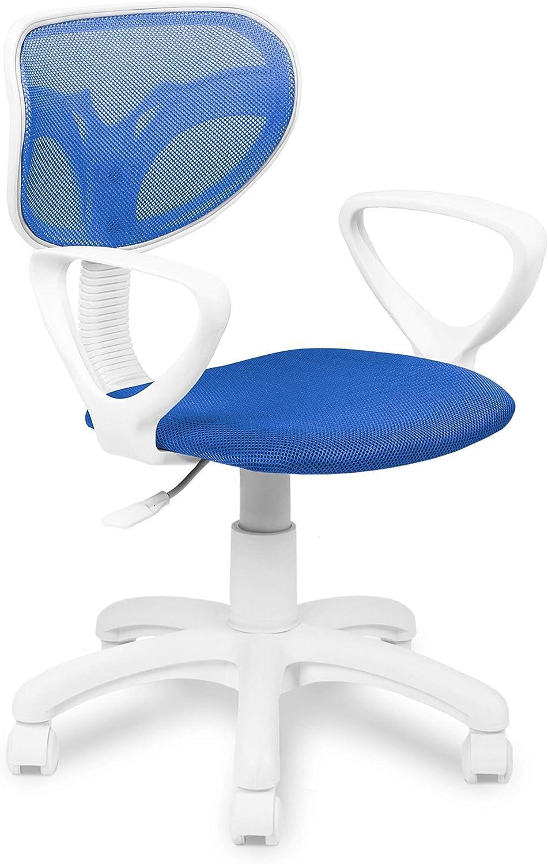 Adec - Touch, Silla de Escritorio giratoria, Silla Juvenil de Oficina, Color Azul, Medidas: 54 cm (Ancho) x 54 cm (Fondo) x 93-109 cm de Altura