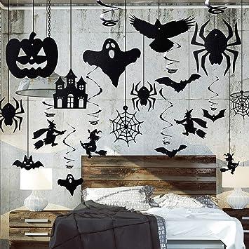 Hicarer 30 Pieces Tourbillon De Decoration De Fete De Halloween Set