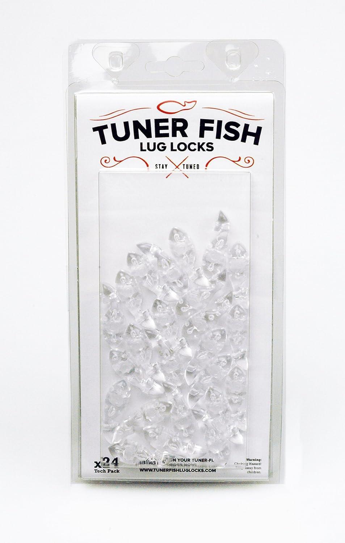 Clear Tuner Fish Drum Lug Locks Pack of 24