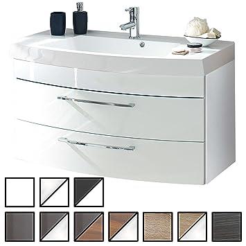 E Combuy Möbel Waschtisch Belum Weiß Waschbecken Mit