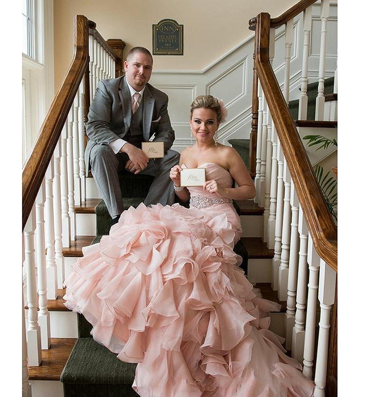 CoCogirls Rosa Meerjungfrau Hochzeitskleid Brautkleid Abendkleid ...